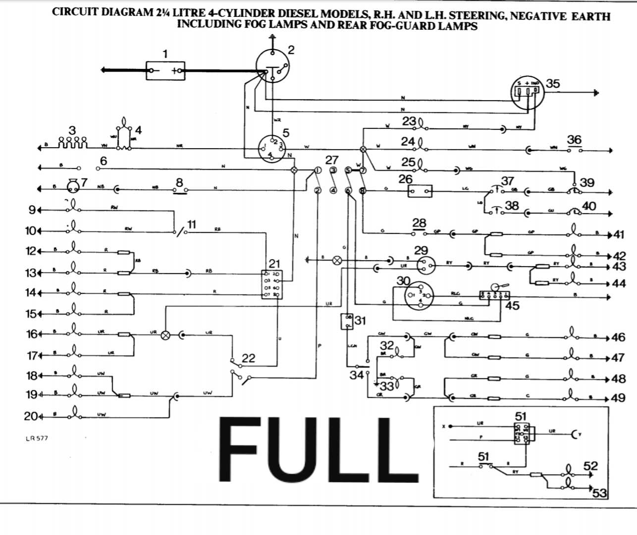 Very Late 1985 Series 3 Swb 2 25 Diesel Wiring Diagram Required